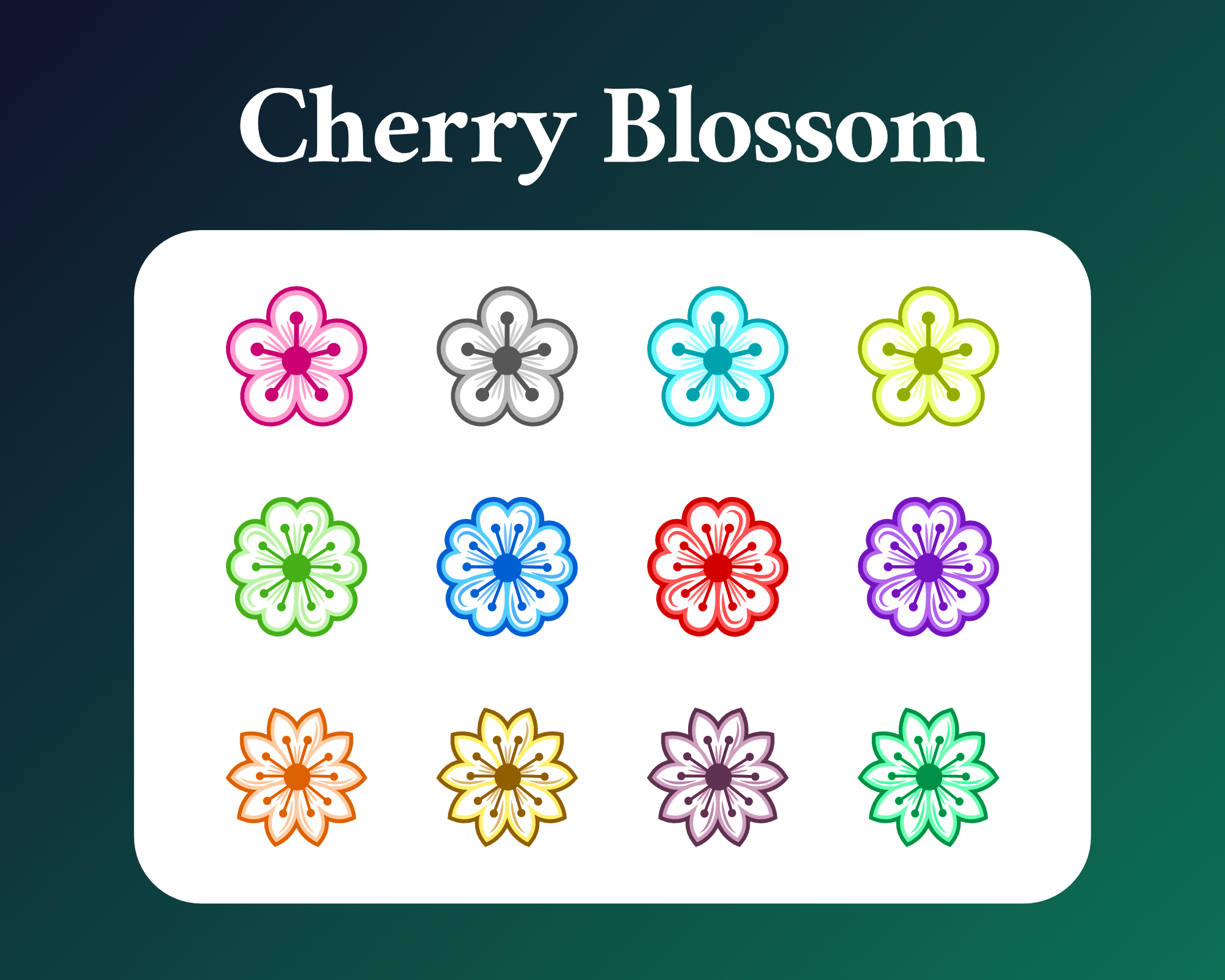Cherry Blossom Sub Badges For Twitch