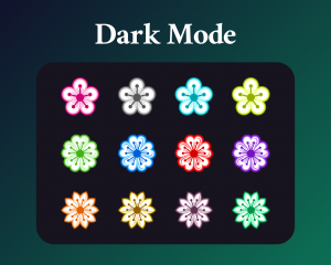 Cherry blossom sub badges for twitch in dark mode