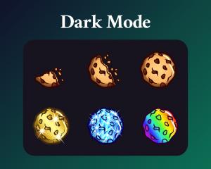 Cookie sub badges dark mode