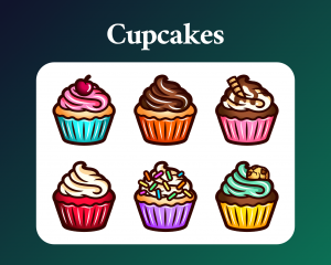 Cupcake sub badges for twitch