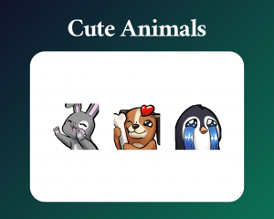 Cute animal twitch emotes