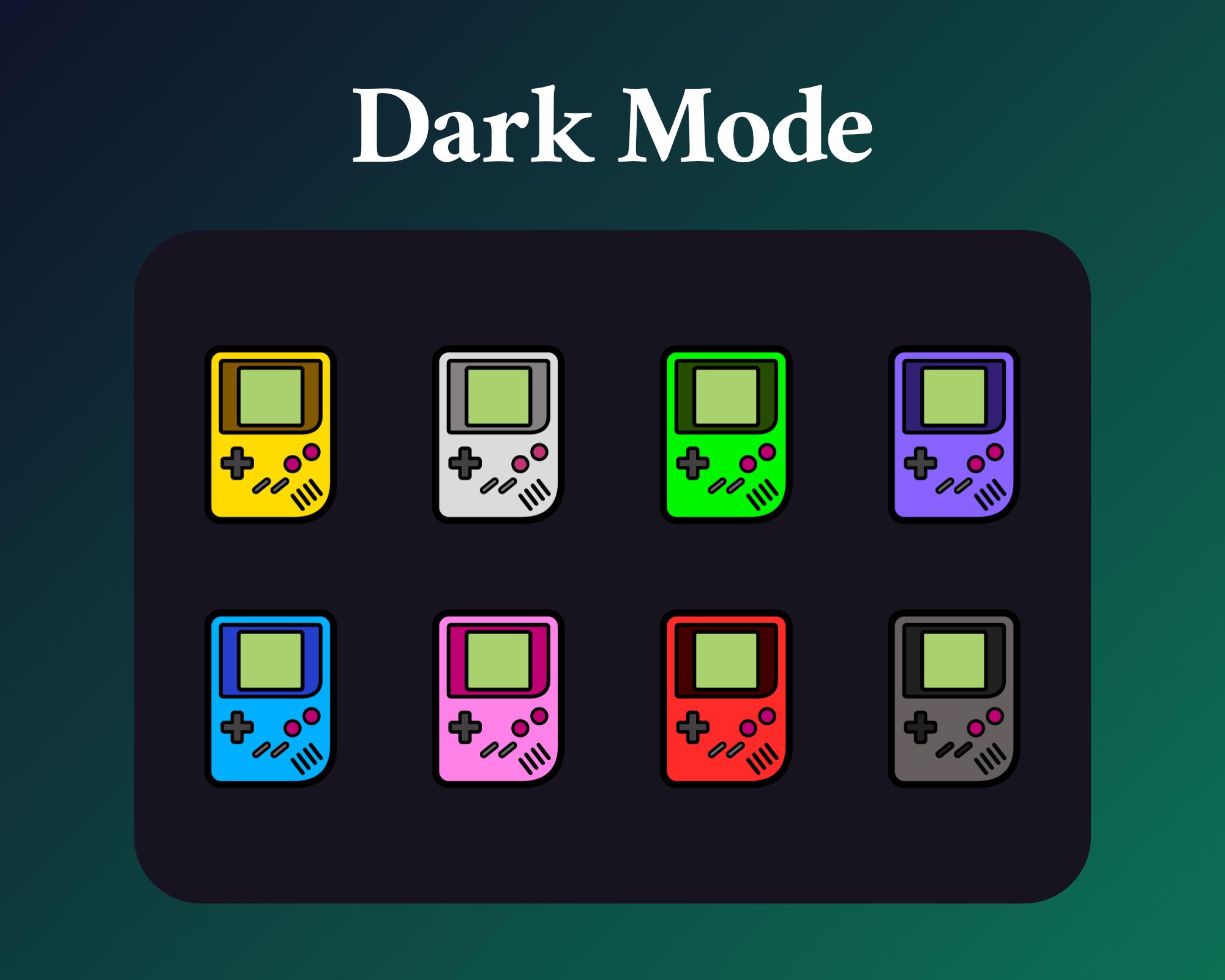 Gameboy sub badges for twitch dark mode