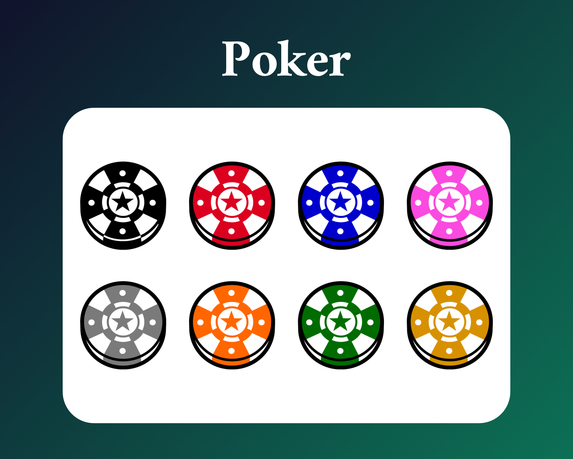 Poker sub badges for twitch