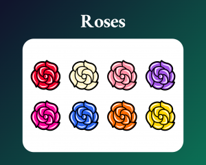 Rose sub badges for twitch
