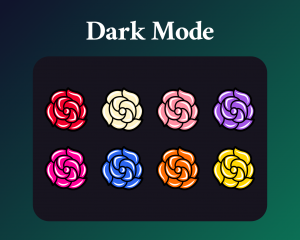 Rose sub badges for twitch in dark mode