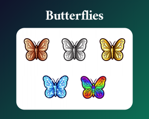 Butterfly sub badges for twitch