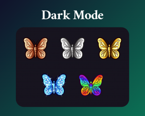 Butterfly sub badges for twitch in dark mode