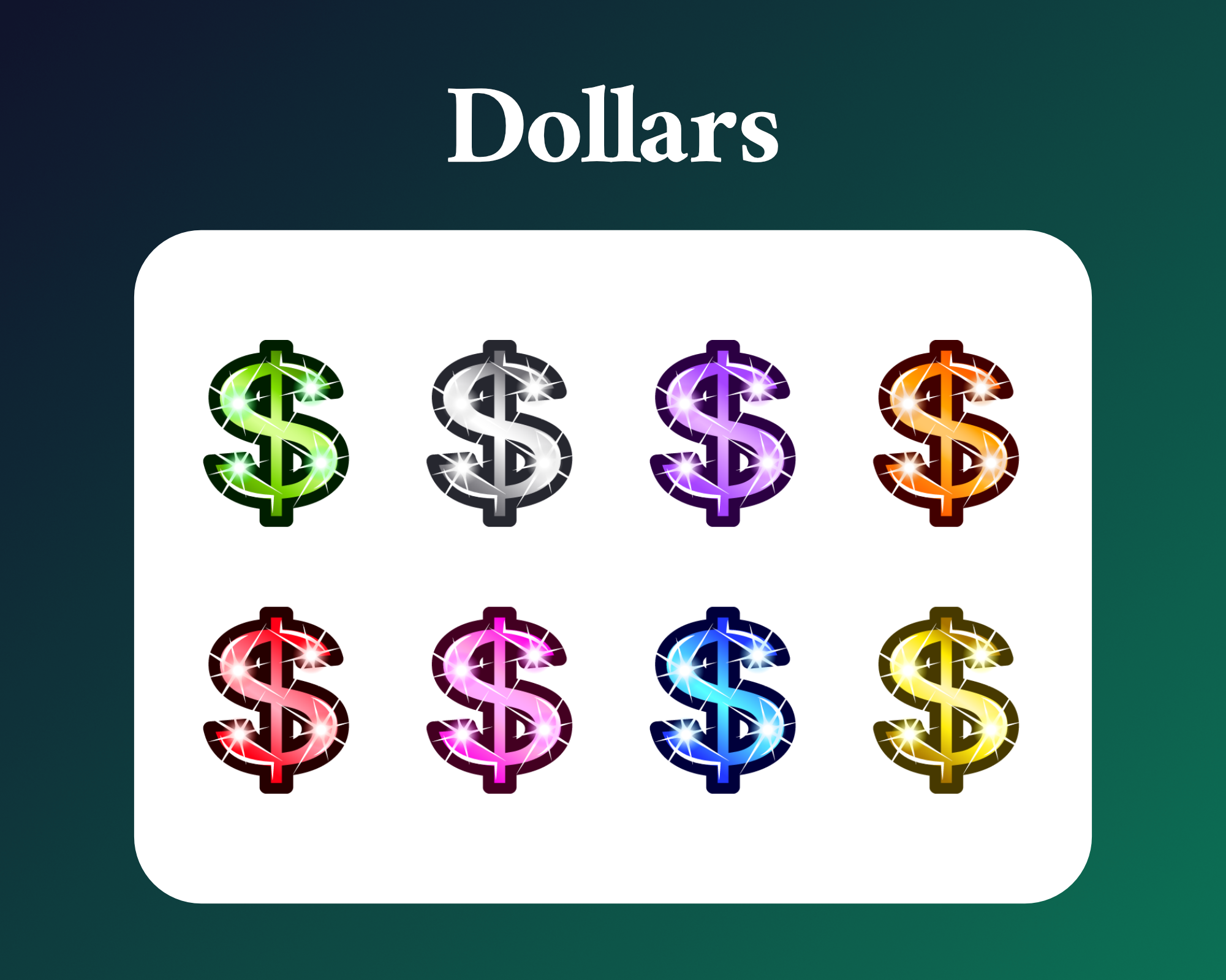 Dollar sign sub badges for twitch