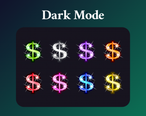 Dollar sign sub badges for twitch on dark mode