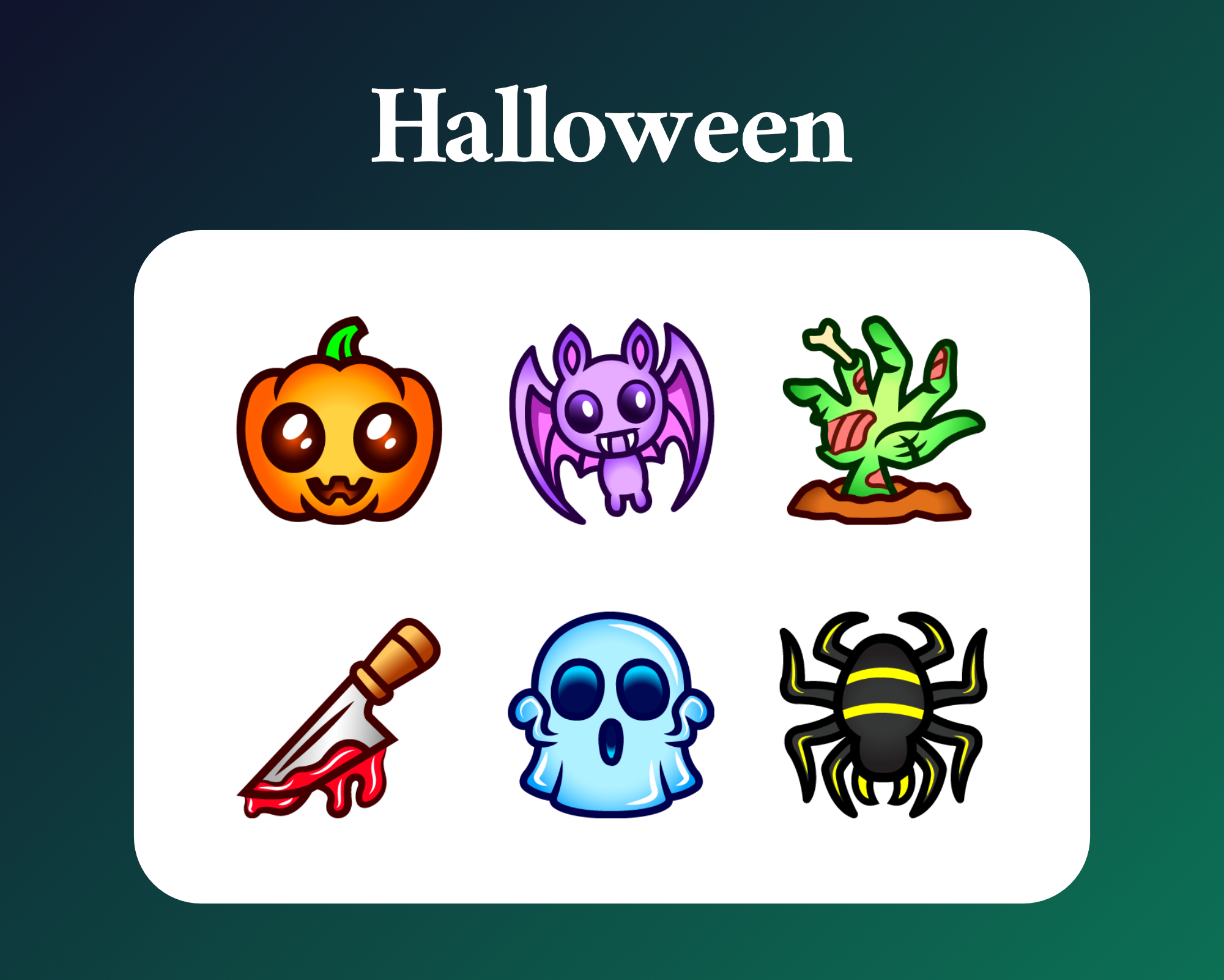 Halloween sub badges for twitch