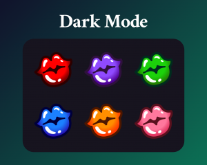 Beauty sub badges for twitch dark mode