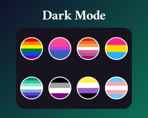 LGBTQ Sub badges for twitch dark mode