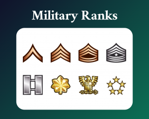 Military rank sub badges for twitch
