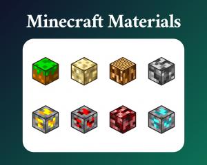 Minecraft material sub badges