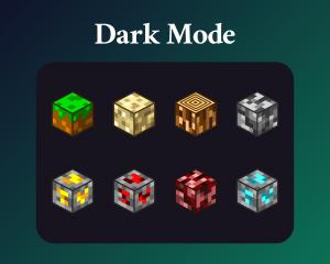 Minecraft material sub badges dark mode