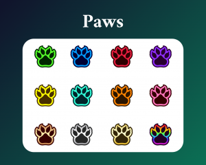Cat paw sub badges kitten twitch