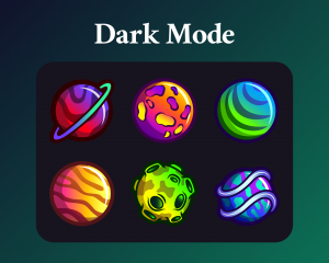 Planets dark mode for twitch sub badges