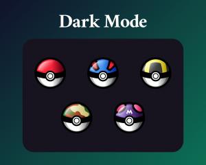 Pokeball Sub Badges Twitch Dark Mode
