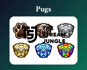 Pug dog sub badges for twitch