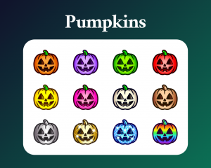 Pumpkin subscriber badges for twitch