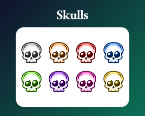 Simple skull badges