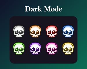 Skull badges dark mode