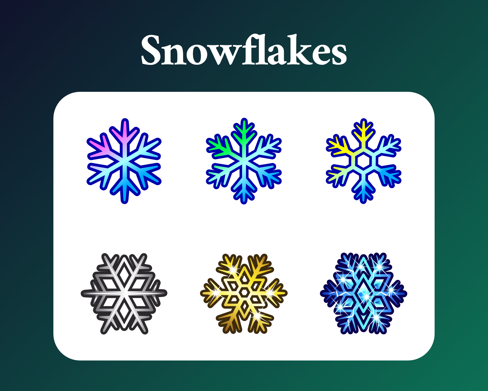 Snowflake Sub badges for twitch