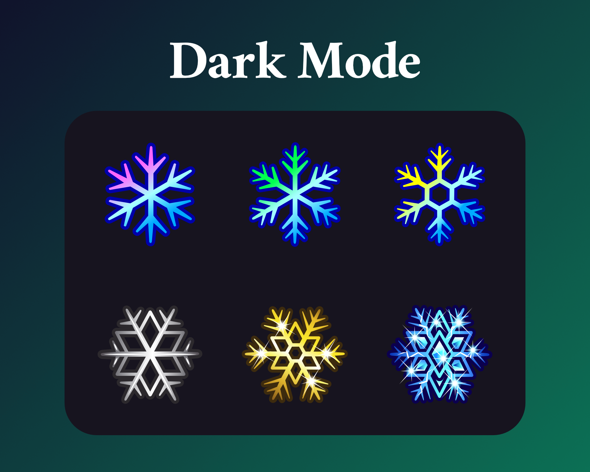 Snowflake sub badges for twitch dark mode
