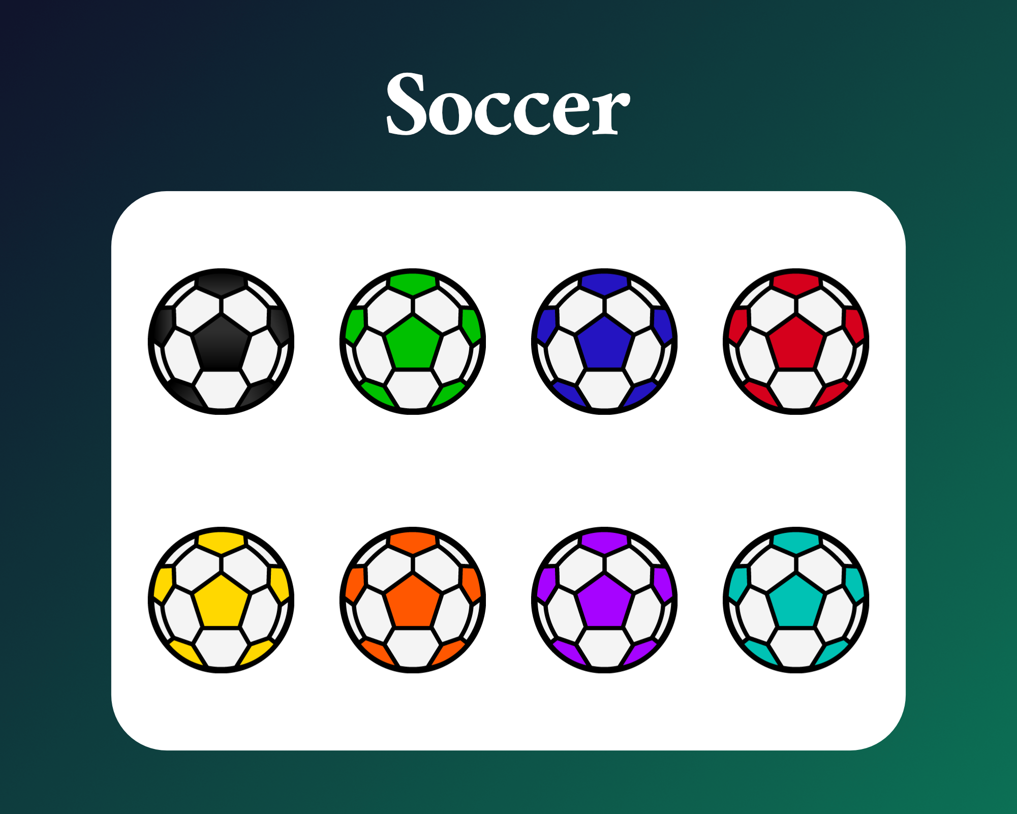 Soccer ball sub badges for twitch
