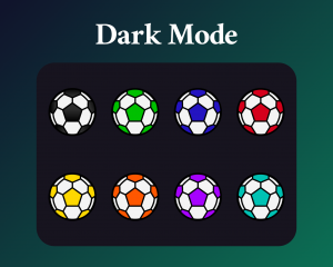 Soccer ball sub badges for twitch dark mode