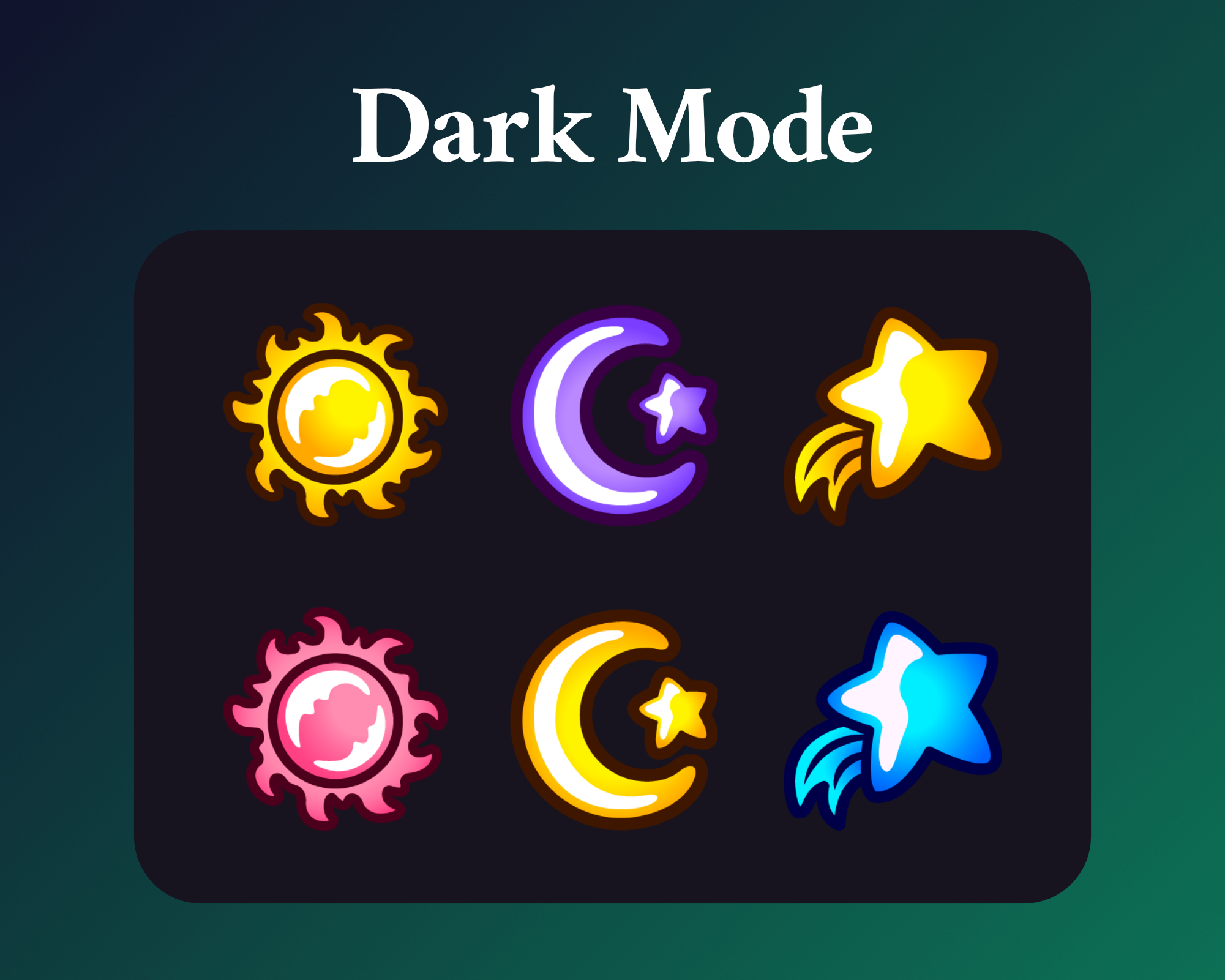 Sub badges for sun moons and stars