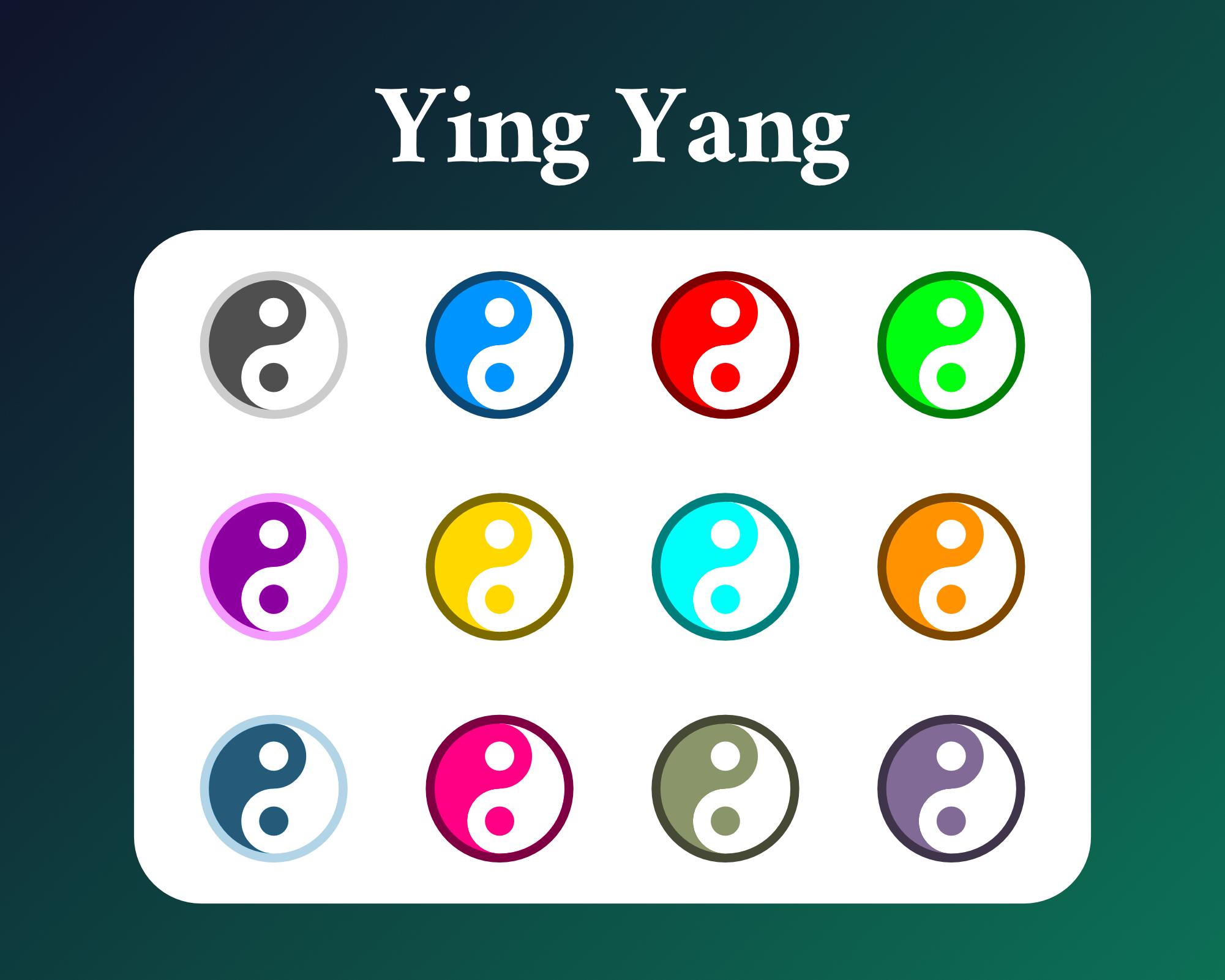 Ying Yang Sub Badges