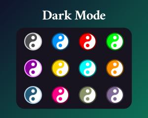 Ying Yang sub badges on dark mode for stream