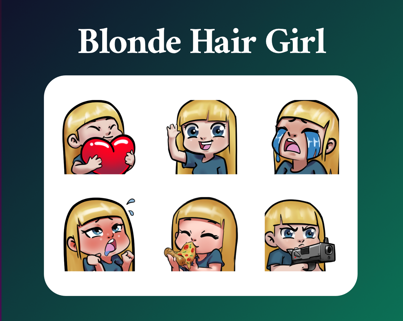 Blonde girl emotes for twitch