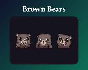Brown bear emotes for twitch