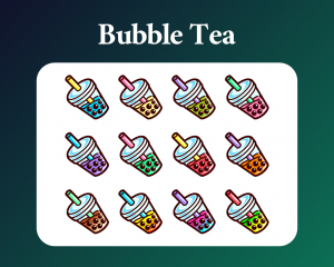 Bubble Tea Twitch sub badges