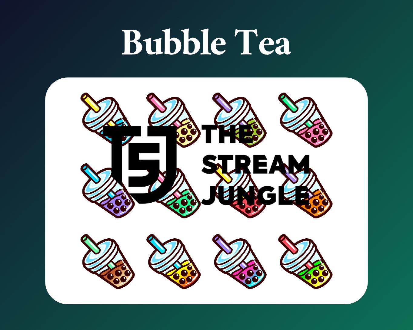 Bubble Tea Twitch sub badges