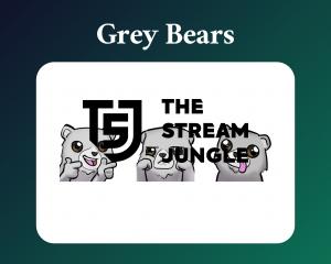 Grey bear emotes for twitch