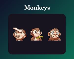 Monkey emotes dark mode
