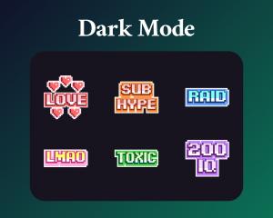 Pixel art text emotes
