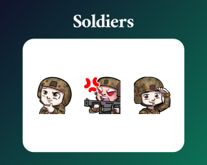 Soldier Emotes for twitch