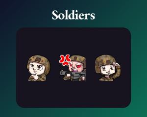 Soldier emotes dark mode twitch