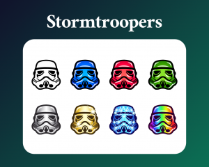 Stormtrooper sub badges for twitch