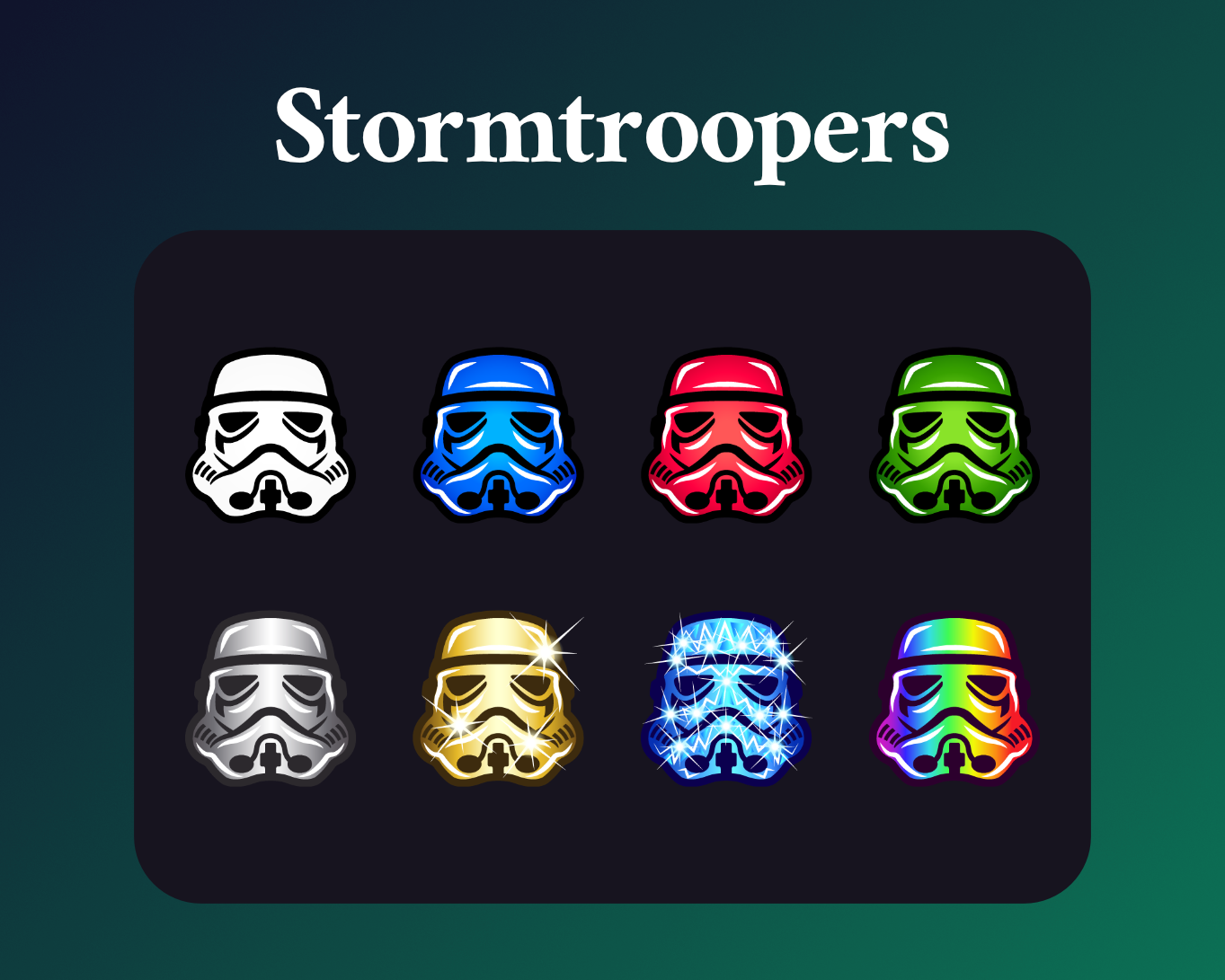 Stormtrooper sub badges for twitch dark mode