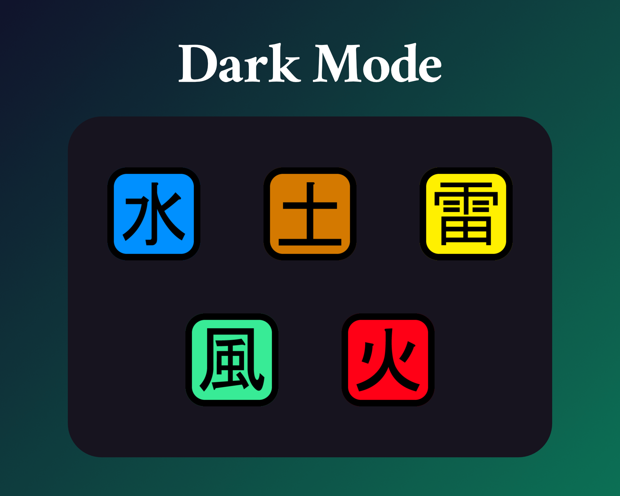 Naruto anime sub badges for twitch on dark mode