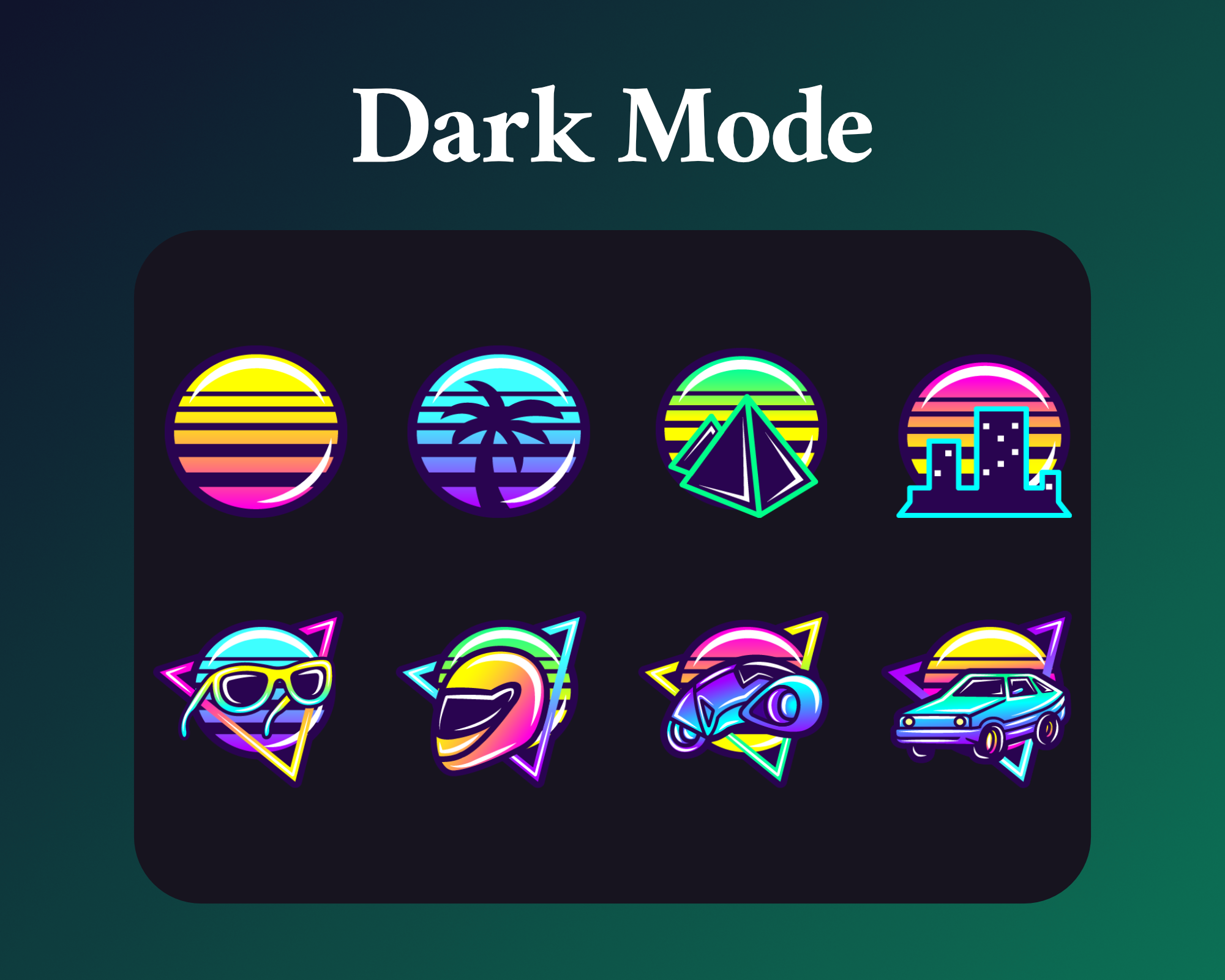 Retrowave sub badges for twitch